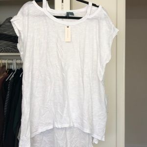 White tee from anthro - with tags